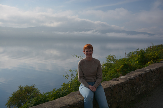 Anne at Loch Ness