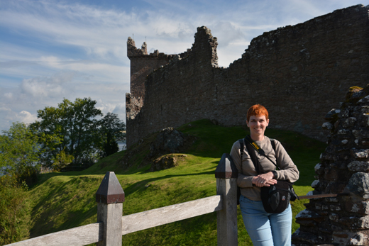 Anne at Urquhart Castle