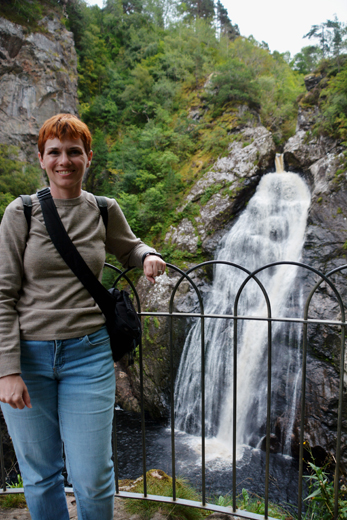 Anne at the Falls of Foyers