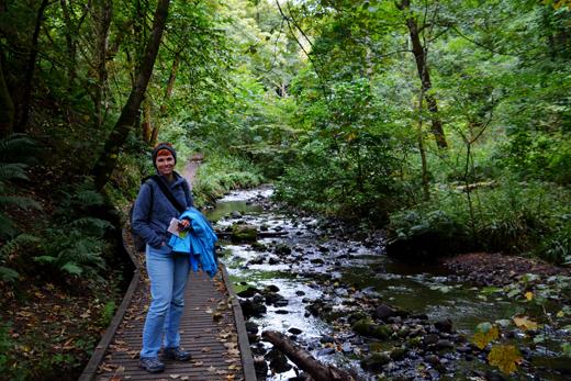 Anne on Fairy Glen trail