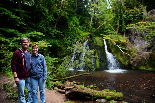 Steve & Anne on Fairy Glen trail
