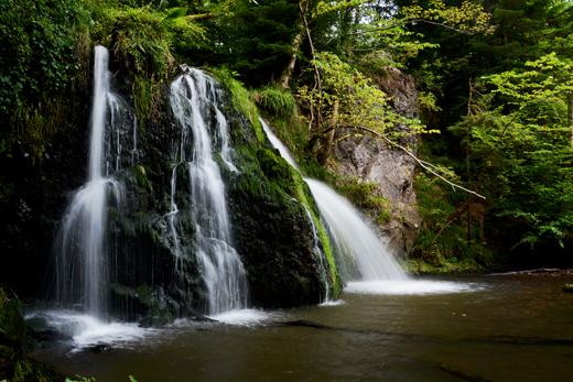 waterfall on Fairy Glen trail