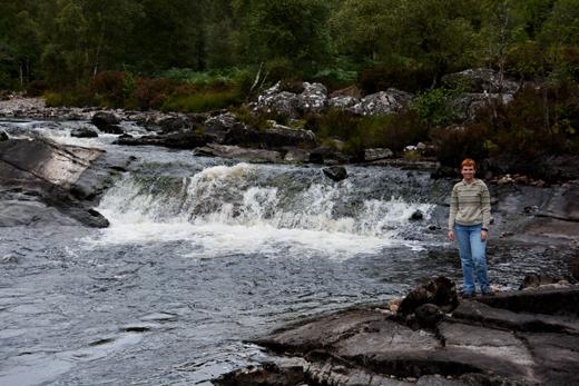 Anne on River Affric walk