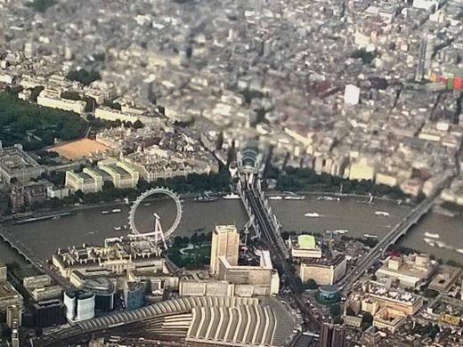 London Eye from airplane
