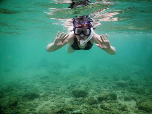 Anne snorkeling