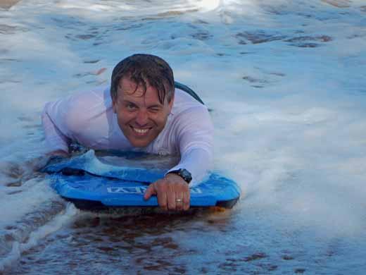 Steve boogie boarding