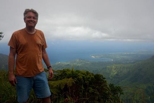 Steve at Kilohana Lookout