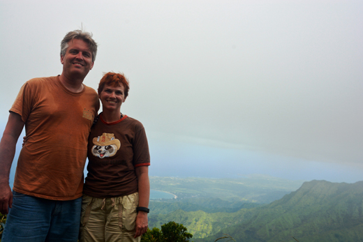 Anne and Steve at Kilohana Lookout