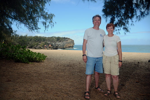 Steve & Anne at Shipwrecks Beach