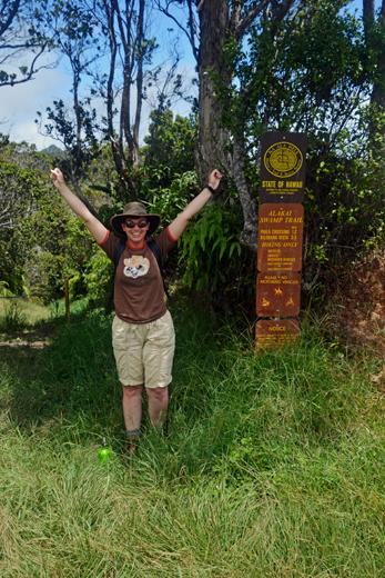 Anne at Alakai Swamp Trailhead