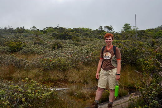 Anne in Alakai Swamp