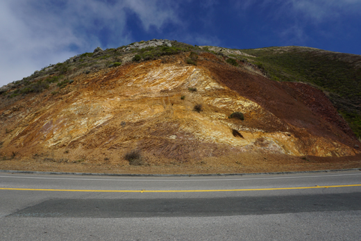rock face in Marin Headlands