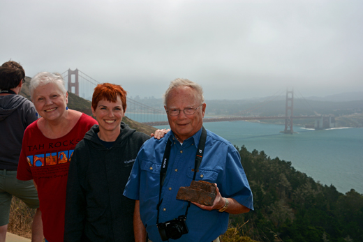 Mom, Anne, & Dad in Marin Headlands