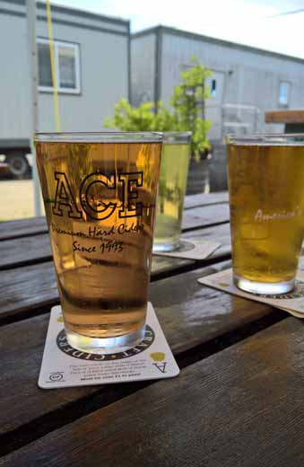 pints of Ace Cider
