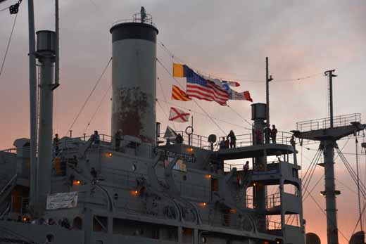 Red Oak Victory at sunset