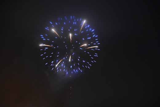Point Richmond's fireworks on the Bay