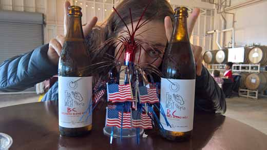 Marie with Far West Cider