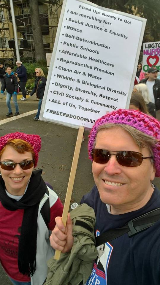 at the Women's March